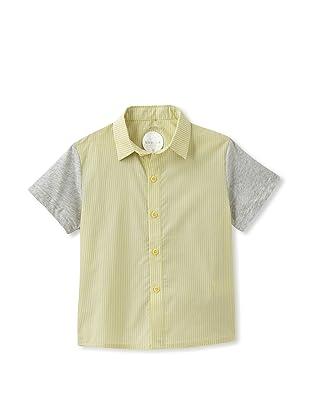kicokids Boy's Graphic Lego Patchwork Shirt (Citrus)