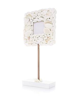 Seaside Cottage Pedestal Shell Frame (White)
