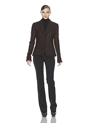 Costume National Women's Wool Blend Jacket (Brown)