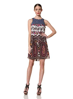 Anna Sui Women's Liberty Farmers Paisley Dress (Fuchsia)