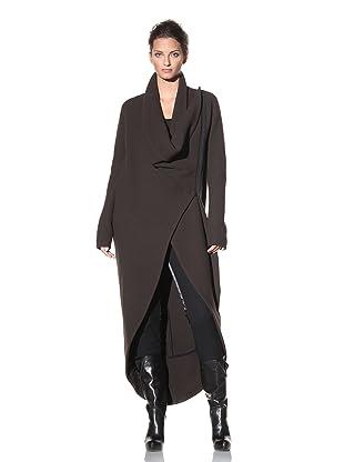 Haider Ackermann Women's Long Asymmetrical Coat (Chocolate)
