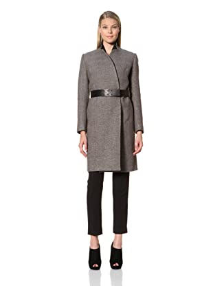 MARTIN GRANT Women's Slim Belted Coat (Black)