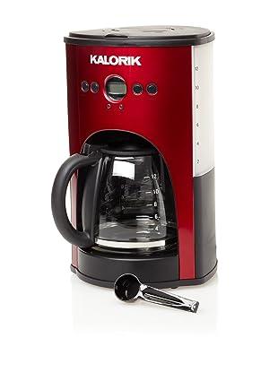 Kalorik 1000-Watt 12-Cup Programmable Coffeemaker (Red)
