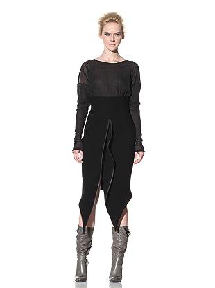 Haider Ackermann Women's Zipper Panel Skirt (Black)