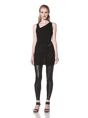 L.A.M.B. Women's Sleeveless Silk Top (Black)