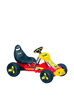 Lil' Rider Battery-Powered Red Racer Go-Kart, Red