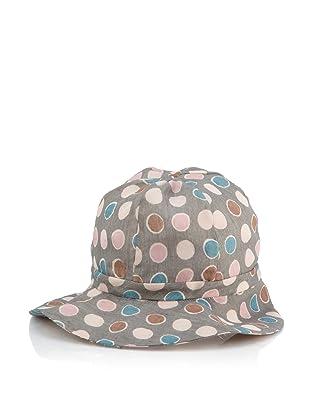MARNI Women's Polka-Dot Hat (Graphite/Turquoise)