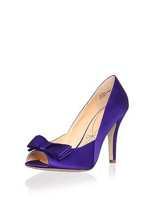 Pour La Victoire Bridal Women's Laela Open-Toe Pump (Purple)