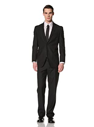 Yves Saint Laurent Suits in Loro Piana Wool Men's Textured Classic Suit (Navy)