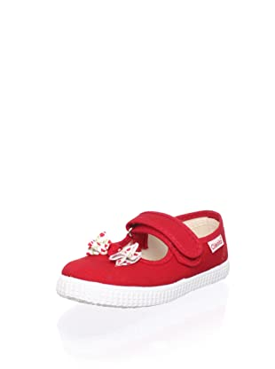 Cienta Kid's Bow Mary Jane Sneaker (Red)
