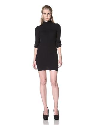 L.A.M.B. Women's Hooded Sweater Dress (Navy)