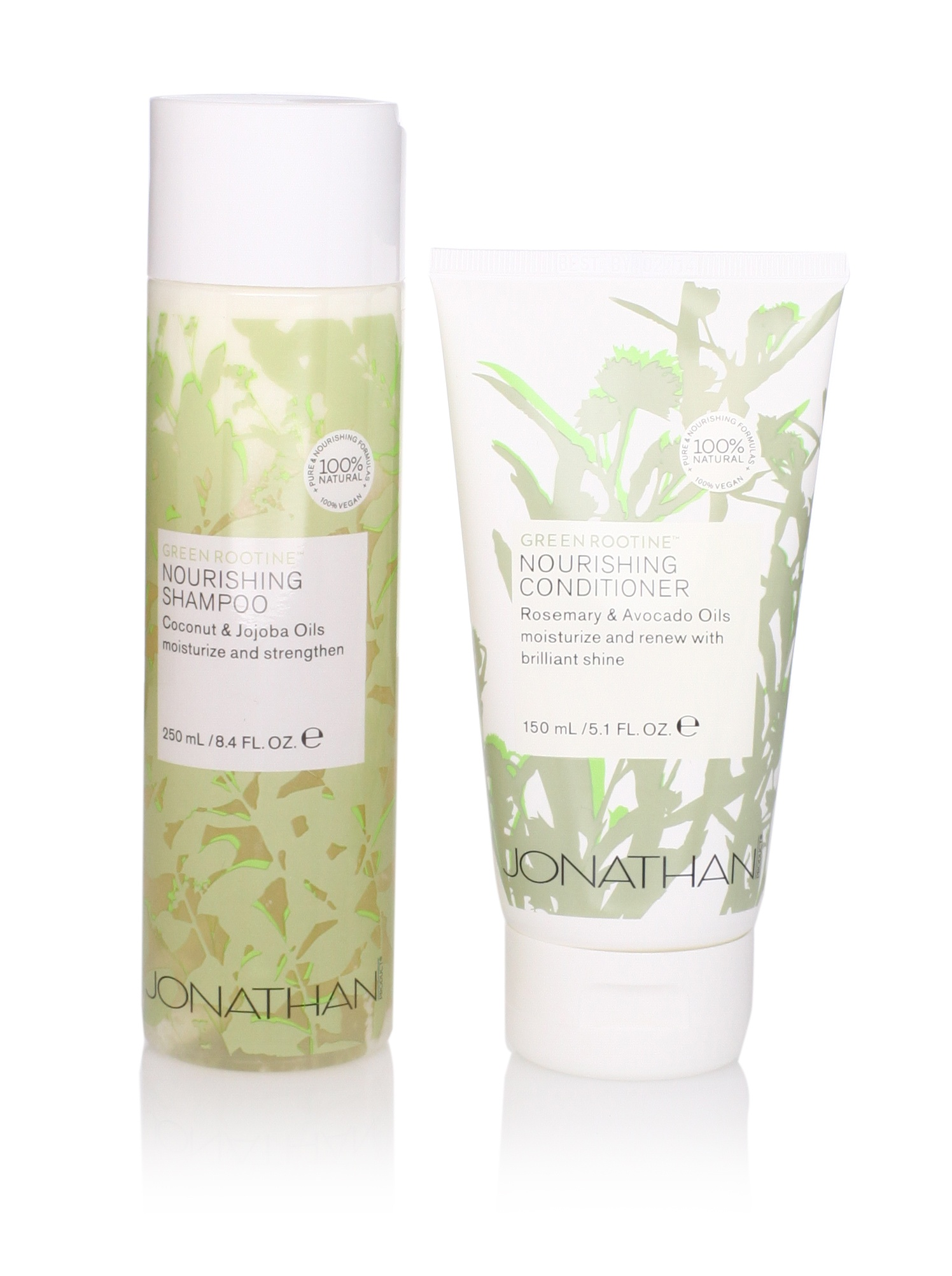 Jonathan Product Green Rootine Nourishing Shampoo and Conditioner, 2 Pack