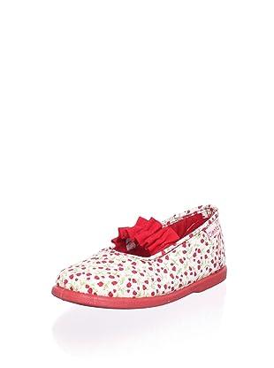 Cienta Kid's Ruffle Mary Jane Flat (Red)
