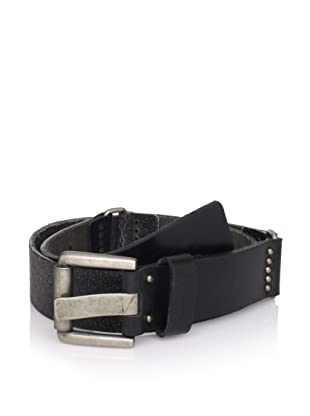 Calvin Klein Men's Flat Strap Belt with Rings (Brown)