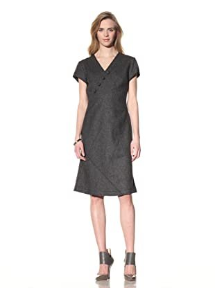ALTUZARRA Women's Stretch Wool V-Neck Dress (Grey)