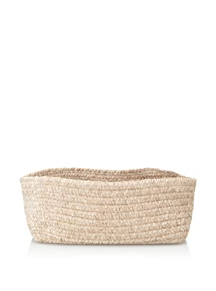 Colonial Mills Indoor/Outdoor Spring Meadow Chenille-Soft Rectangle Storage Basket (Sand)