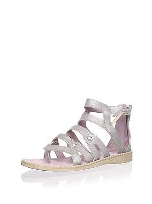 Billowy Kid's Gladiator Sandal (Silver)