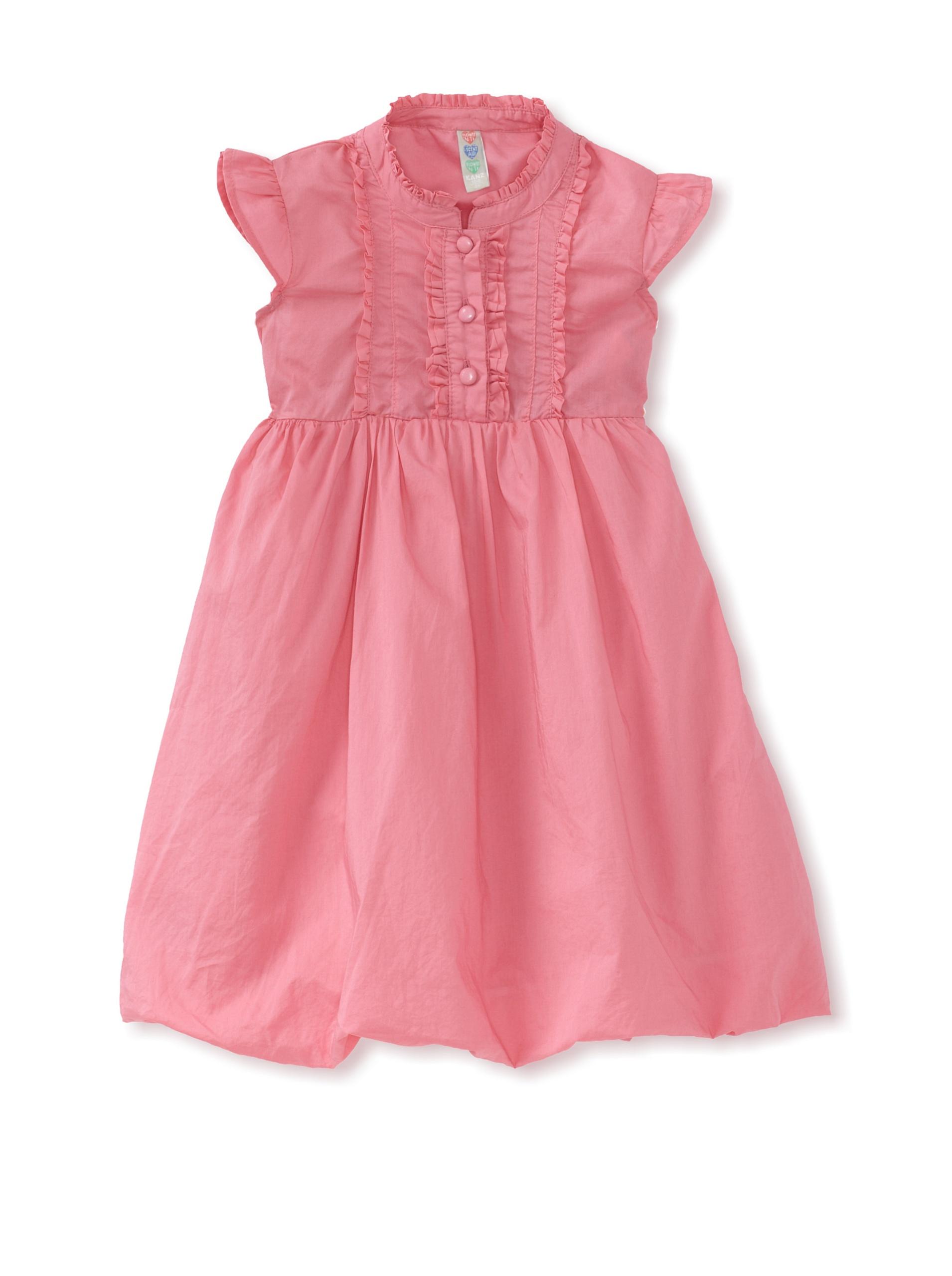 KANZ Girl's Ruffle-Trimmed Dress (Pink)