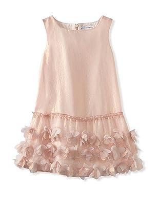 Charabia Girl's Sleeveless Dress with Petal Skirt (Pink)
