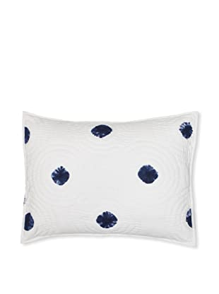 Jaipur Bedding Spot Tie Dye Sham (Indigo/White)