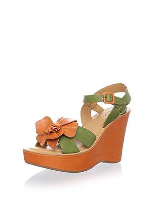 Kork-Ease Women's Mina Wedge Sandal (Mimetico/Fanta/Fanta)