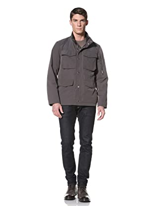 Andrew Marc Men's Lanchester Stand Collar Flap Pocket Jacket (Grey)