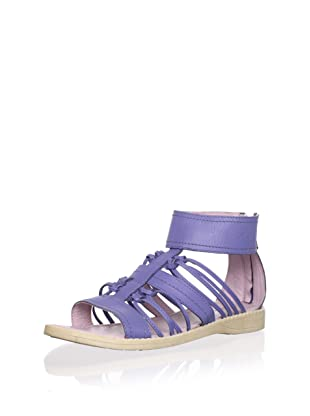 Billowy Kid's Knotted Sandal with Ankle Cuff (Blue)