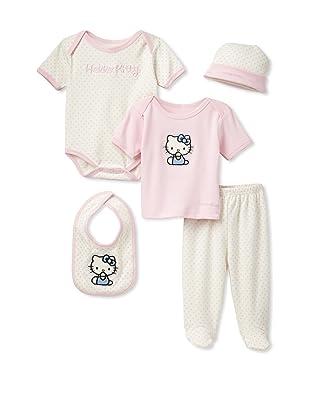 Hello Kitty Organics Baby Hello Kitty Polka Dot 5-Piece Set (Pink)