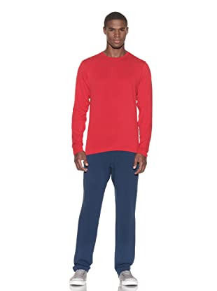 Guats Men's Base Long Sleeve Crew (Red)