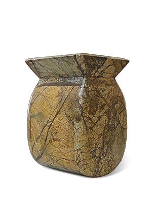 Global Pickings Rockflower Marble Vase (Natural)