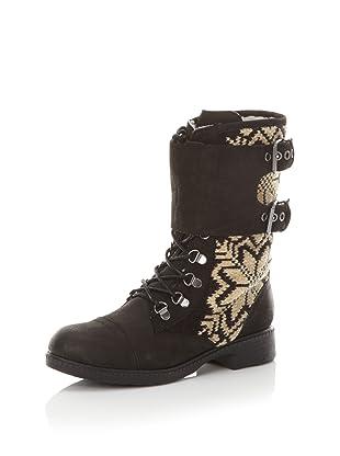 Kelsi Dagger Women's Ilya Fair Isle Boot (Black)