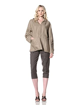 Billy Reid Women's Hoodie with Pocket Detail (Coffee)