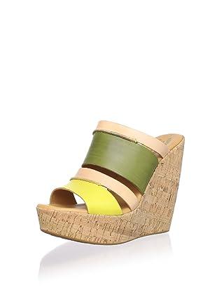 Kork-Ease Women's Paige Wedge Sandal (Sun/Mimetico (Green))