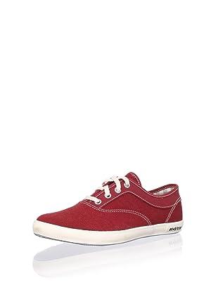 SeaVees Women's Volunteer Plimsoll Sneaker (Cardinal)