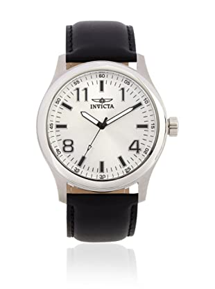Invicta Men's 11431 Specialty Silver Dial Black Leather Watch