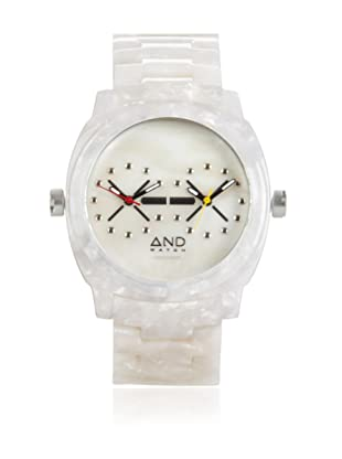 AND Watch Unisex Parmenides White Cellulose Acetate Time Zone Watch