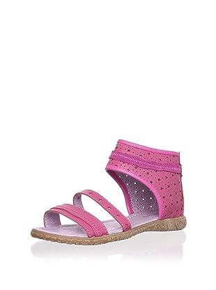 Billowy Kid's Starry Ankle Cuff Sandal (Pink)