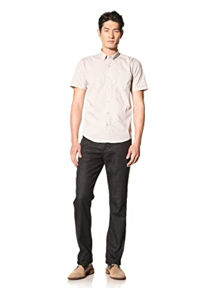 Color Siete Men's Grand Short Sleeve Microckecked Shirt (Mineral)