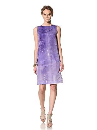 MARNI Women's Abstract Print Sleeveless Dress (Blue)