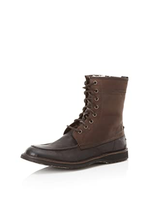 John Varvatos Star USA Men's Winter Hipster Shearling Work Boot (Dark Brown)