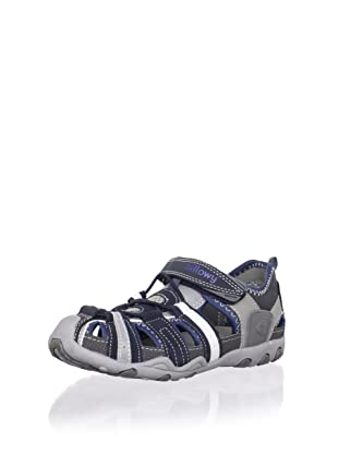 Billowy Kid's Sport Sandal (Grey/Black)