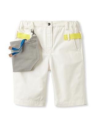 kicokids Boy's Relaxed Work Wear Bermuda Shorts (Milk)
