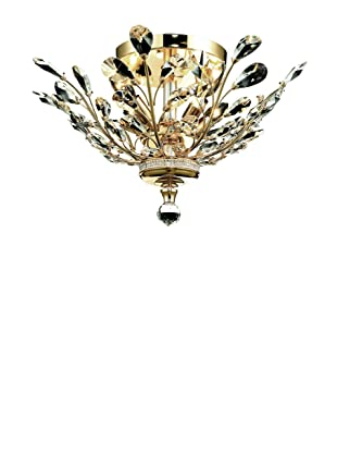 Crystal Lighting Orchid Flush Mount (Gold and Crystal)