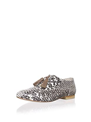 Plomo Women's Norma Oxford with Tassels (Grey Snake)