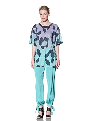 House of Holland Women's Leopard Print Oversized Tee (Multi)