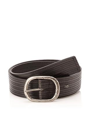 John Varvatos Star USA Men's Stitched Leather Belt (Black)