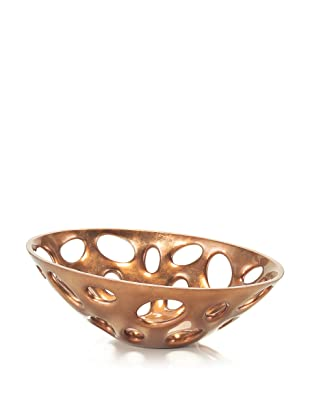 John-Richard Collection Pierced Lacquer Bowl in Copper