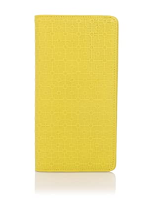 Hlaska Artifacts Women's Embossed Slim Check Wallet (Yellow)