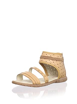 Billowy Kid's Starry Ankle Cuff Sandal (Brown)