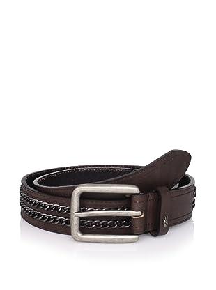 John Varvatos Star USA Men's Chain Belt (Brown)